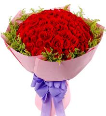 醉心之吻:全国送花99朵红玫瑰