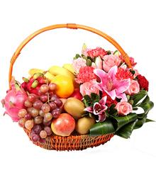 花美果香:鲜花速递新鲜水果果篮