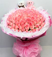 粉色佳人:99朵粉色玫瑰