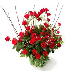 珍爱:99枝红玫瑰花篮