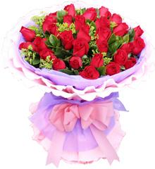 情有独钟:33红玫瑰花束