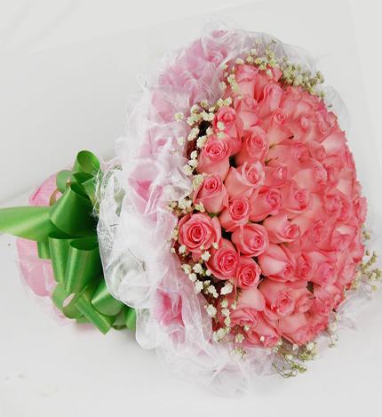 66支粉玫瑰
