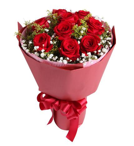 真爱:红玫瑰9枝