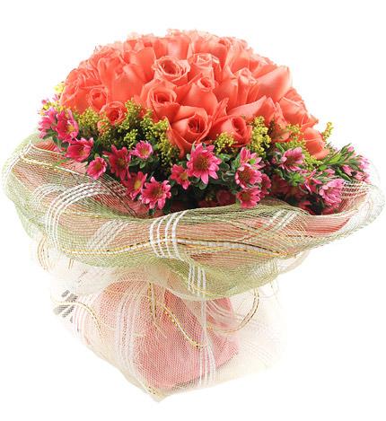 幸福奇迹:66朵粉玫瑰