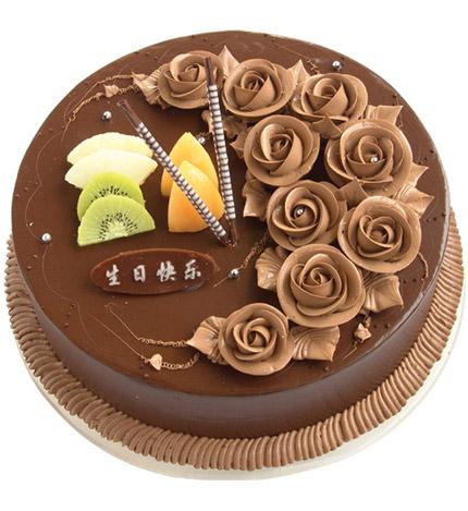 一生的爱:圆形巧克力蛋糕